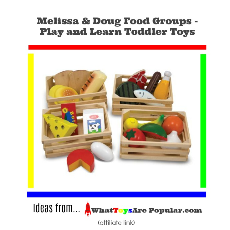 Melissa Doug Food Groups Play And Learn Toddler Toys